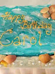 Feminine 45 Beachy Shells and Pearls Birthday Cake