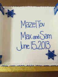 Mitzvah 13 Blue and Silver Traditional Torah Scroll Bar Mitzvah Cake