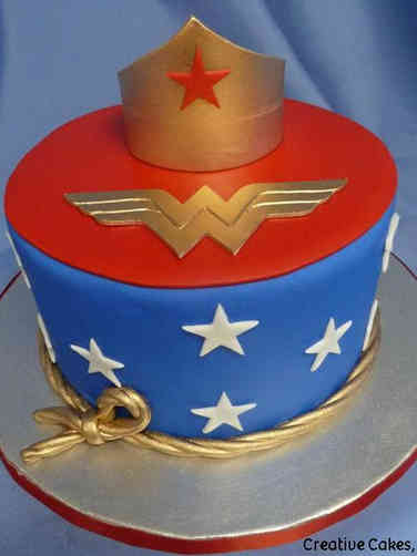 Pop 34 Wonder Woman Birthday Cake