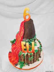 Unique 51 Volcano Island Birthday Cake