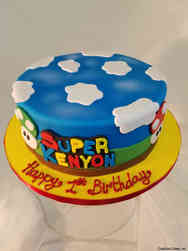 Neutral 26 Super Mario Brothers First Birthday Cake