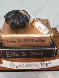 Grad School 22 Law Books Graduation Cake