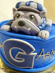 College 14 3D Georgetown University Bulldog College Graduation Cake