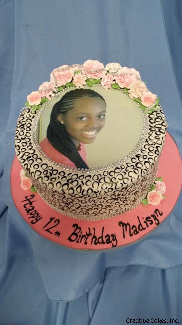 Unique 31 Lace Photo Frame Birthday Cake