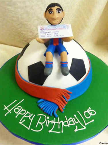 Sports 23 Soccer Fan Birthday Cake