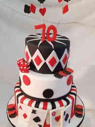 Sports 46 Casino Themed Birthday Cake