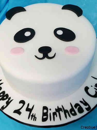 Unique 02 Minimalist Panda Birthday Cake