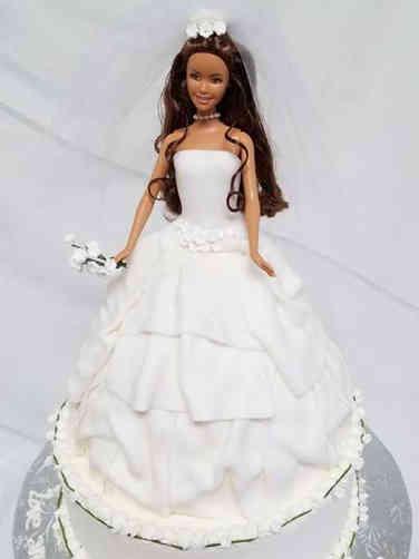 Dress 05 Wedding Barbie Bridal Shower Cake