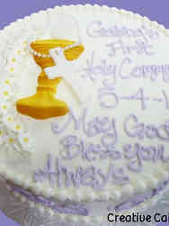 Communion 08 Chalice and Rosary First Communion Cake