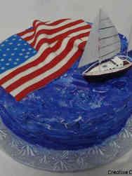 Military 18 Sailboat Military Retirement Cake