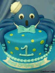 Boys 11 Octopus Sailor First Birthday Cake