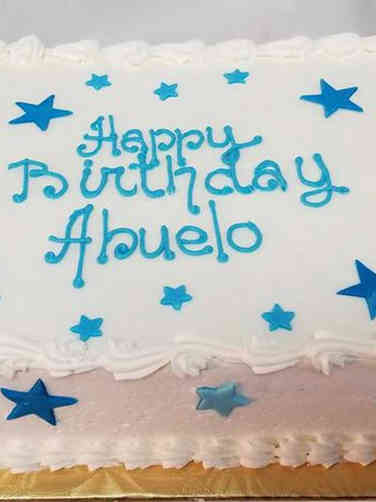 Other 03 Blue Stars Birthday Cake