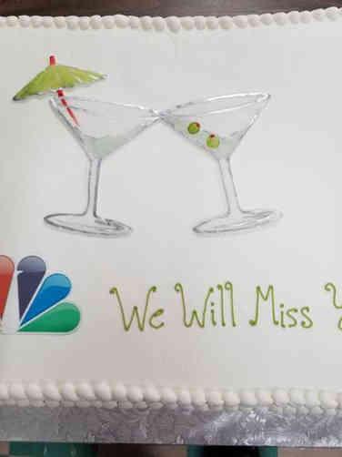 Professional 02 Martini Classes Retirement Cake