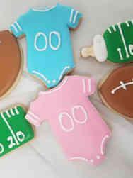Cookies 04 Football Baby Shower Cookies