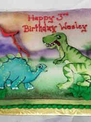 Animals 10 Cartoon Dinosaurs Birthday Cake