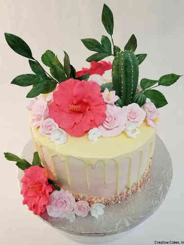 Floral 52 Southwestern Garden Birthday Cake