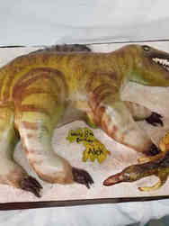 Animals 37 Carved Dinosaur Birthday Cake