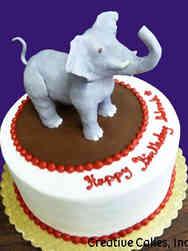 Animals 28 3D Elephant Birthday Cake