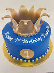 Boys 17 Little Prince First Birthday Cake