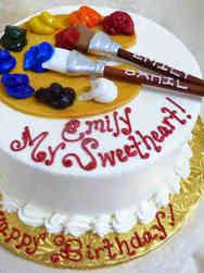 Hobbies 23 Painter's Palate Birthday Cake