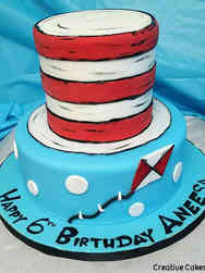 Movies 03 Cat in the Hat Birthday Cake