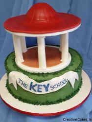 Corporate 02 The Key School Gazebo Celebration Cake