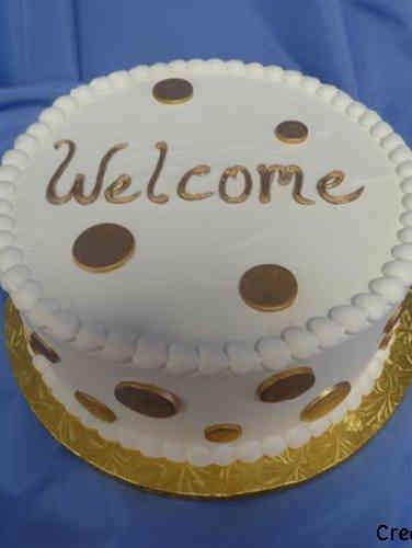 Other 11 Gold Polka Dots Celebration Cake