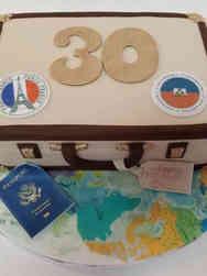 Hobbies 62 Travel Themed Birthday Cake
