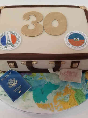 Hobbies 62 Travel Themed Birthday Cake