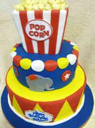 Animals 25 Circus Elephants Birthday Cake