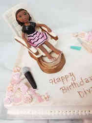 Unique 18 Spa Day Scuplted Figure Birthday Cake