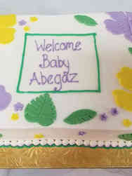 Neutral 20 Lovely Hisbiscus Baby Shower Cake