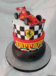 Sports 41 Ferrari Formula 1 Birthday Cake