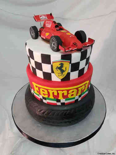 Sports 41 Ferrari Formula 1 Birthday Cake