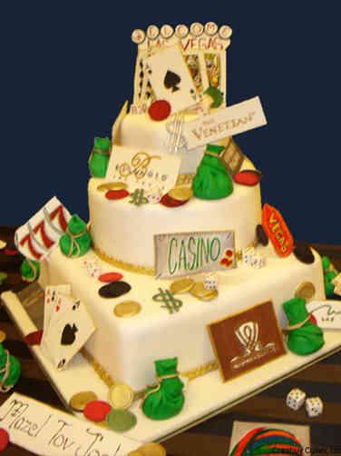Mitzvah 12 Festive Casino Themed Bar Mitzvah Cake