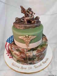 Military 30 Handmade Combat Medic Statue Welcome Home Military Cake