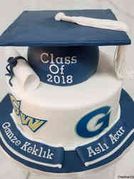 College 05 Georgetown and George Washington Universities Joint College Graduation Cake