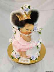 Girls 29 Sweet Little Princess Baby Shower Cake