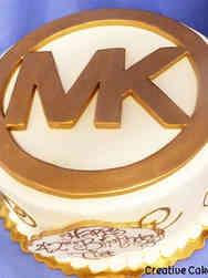 Fashion 02 Michael Kors Logo Birthday Cake