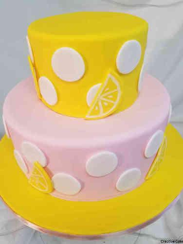 Girls 34 Pink Lemonade Baby Shower Cake