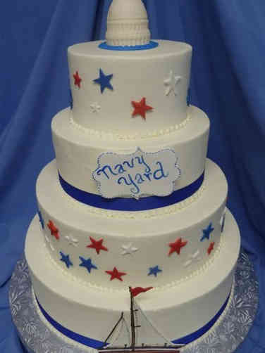 Summer 05 Washington DC Navy Yard 4th of July Cake