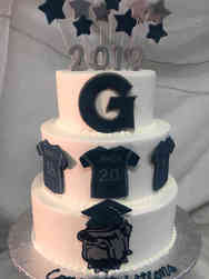 College 38 Georgetown Softball Team Graduation Cake