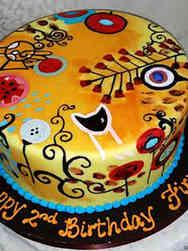 Unique 30 Hand-Painted Birthday Cake