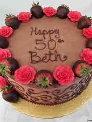 Food 36 Strawberries and Roses Birthday Cake