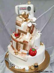 Hobbies 03 Quilter's Sewing Machine Birthday Cake
