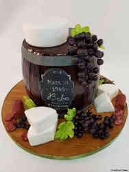 Food 39 Wine and Cheese Birthday Cake