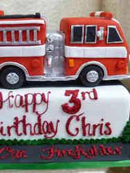 Unique 29  3D Firetruck Birthday Cake