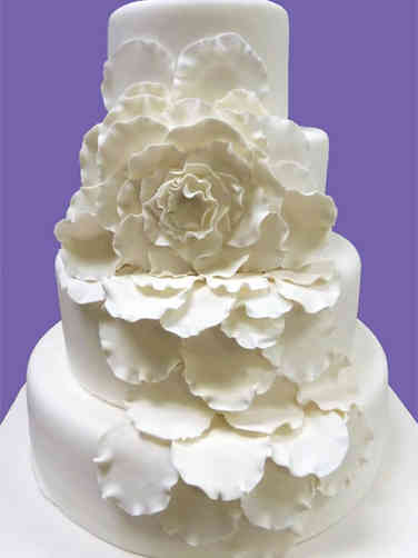Elegant 21 Abstract Flower Wedding Cake