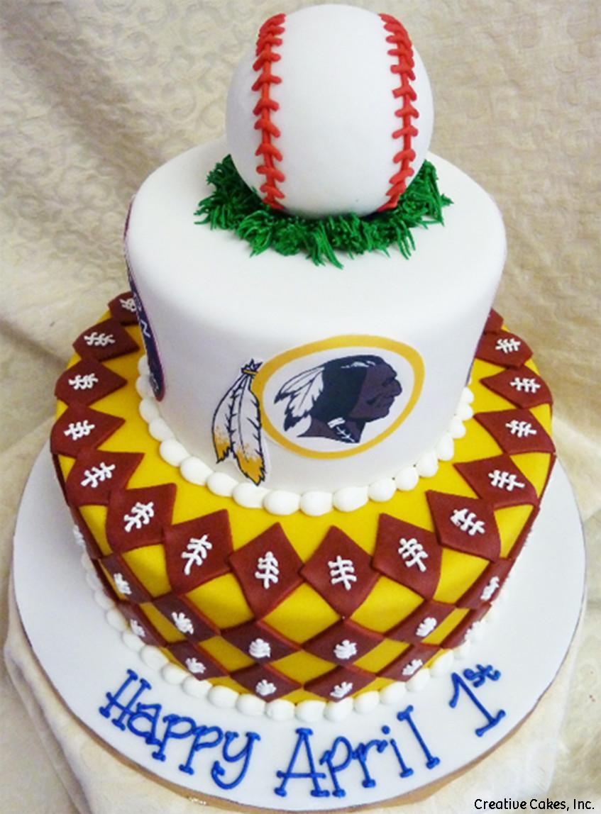 Sports 03 Washington DC Sports Birthday Cake