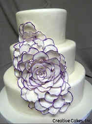Floral 29 Abstract Flower Wedding Cake